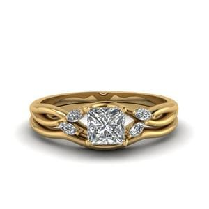 Twisted Diamond Ring And Band