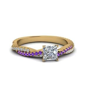 Purple Topaz Infinity Twist Ring