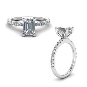 Emerald Cut Petite Diamond Ring