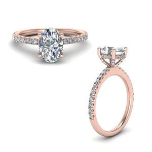 Petite Oval Shaped Diamond Ring