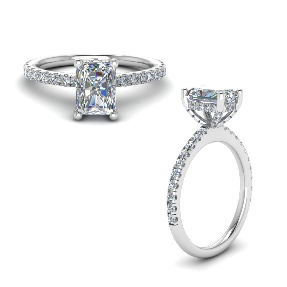 Diamond Prong Radiant Cut Petite Ring