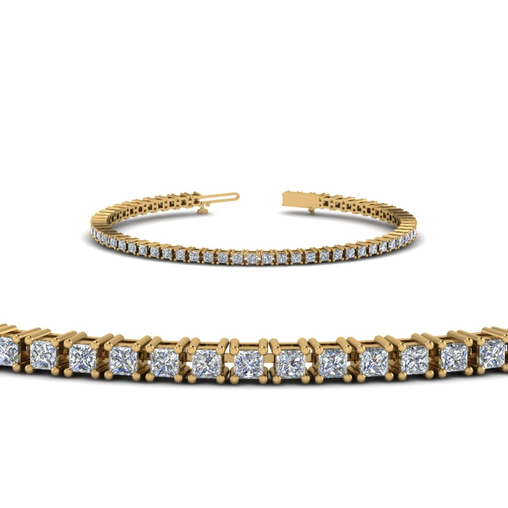 4 Carat princess Diamond Bracelet