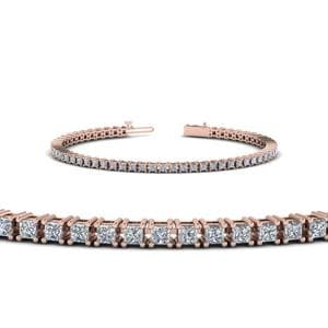 18K Rose Gold Tennis Bracelet