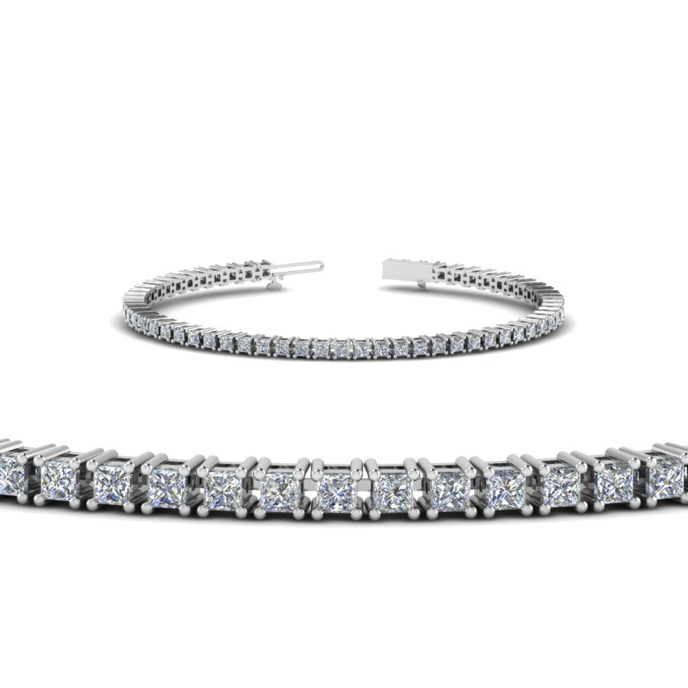 4 Ct. Princess Diamond Bracelet