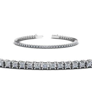 Platinum 4 Ct. Princess Diamond Bracelet