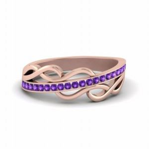 18k Rose Gold Gemstone Band