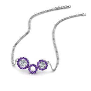 Purple Topaz Circle Pendant