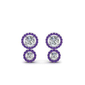 Sterling Silver Purple Topaz Stud Earring