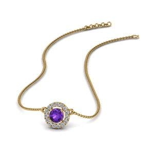 Purple Topaz Pendant Necklace