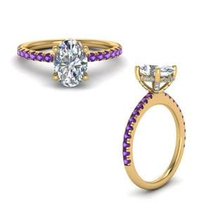 Delicate Band Purple Topaz Ring