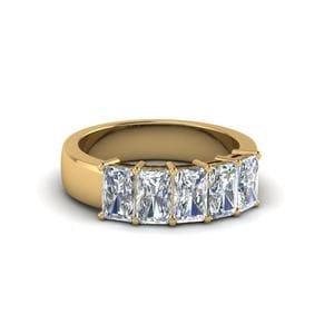 Radiant Cut 5 Stone Band 1 Carat