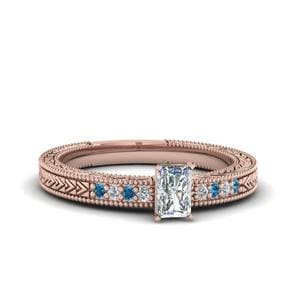 Blue Topaz Pave Ring