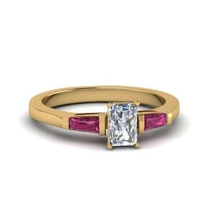 Pink Sapphire Trinity Ring