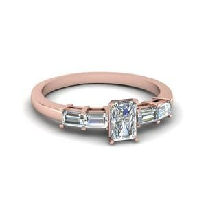 Basket Prong Baguette Diamond Ring