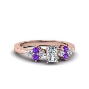 Violet Topaz Radiant Cut Ring