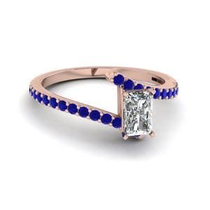 Pave Set Sapphire Ring