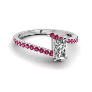 Twisted Pink Sapphire Ring