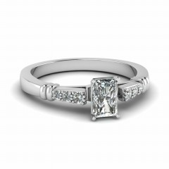 0.50 Ct. Radiant Cut Diamond Engagement Rings