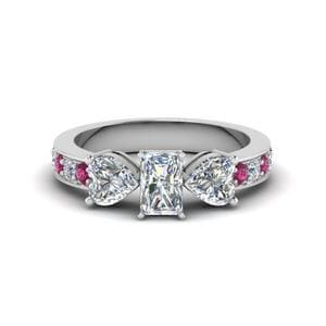 Pave Pink Sapphire Ring