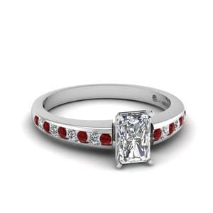 Channel Radiant Diamond Ring