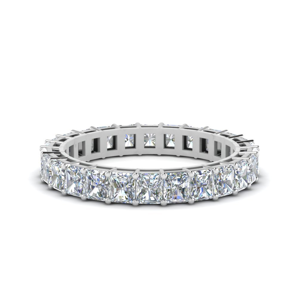 2 Carat Radiant Cut Diamond Eternity Ring
