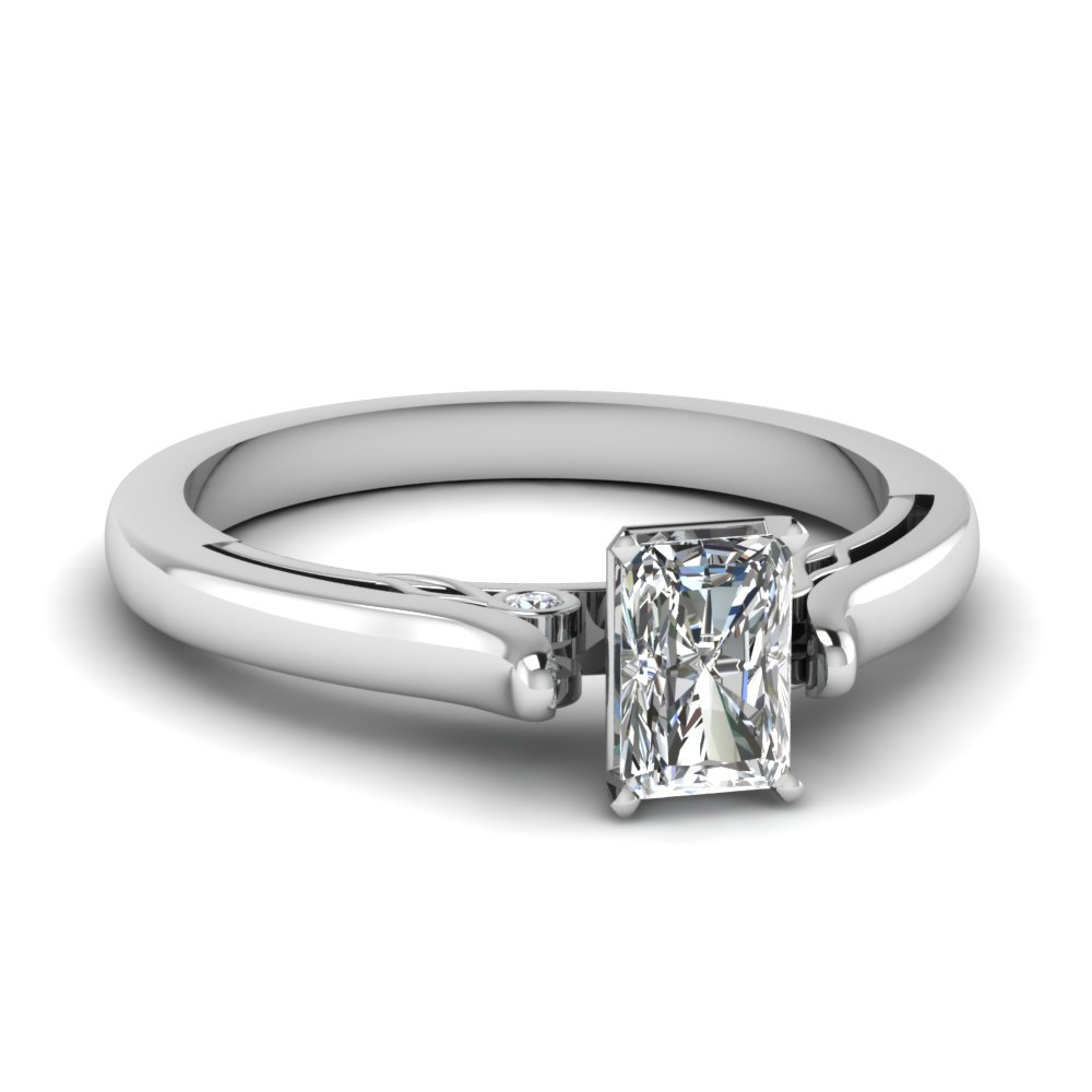 Cathedral Radiant Diamond Ring
