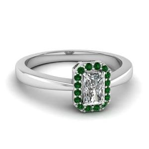 Delicate Shank Emerald Ring