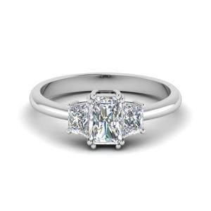 Trapezoid Radiant Cut Diamond Ring