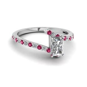 Radiant Diamond Delicate Ring