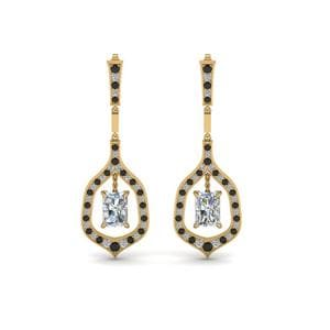 Black Diamond Hanging Earring