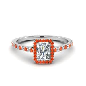 Orange Topaz Petite Band Ring
