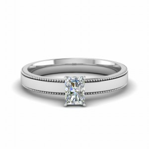 Radiant Diamond White Gold Ring