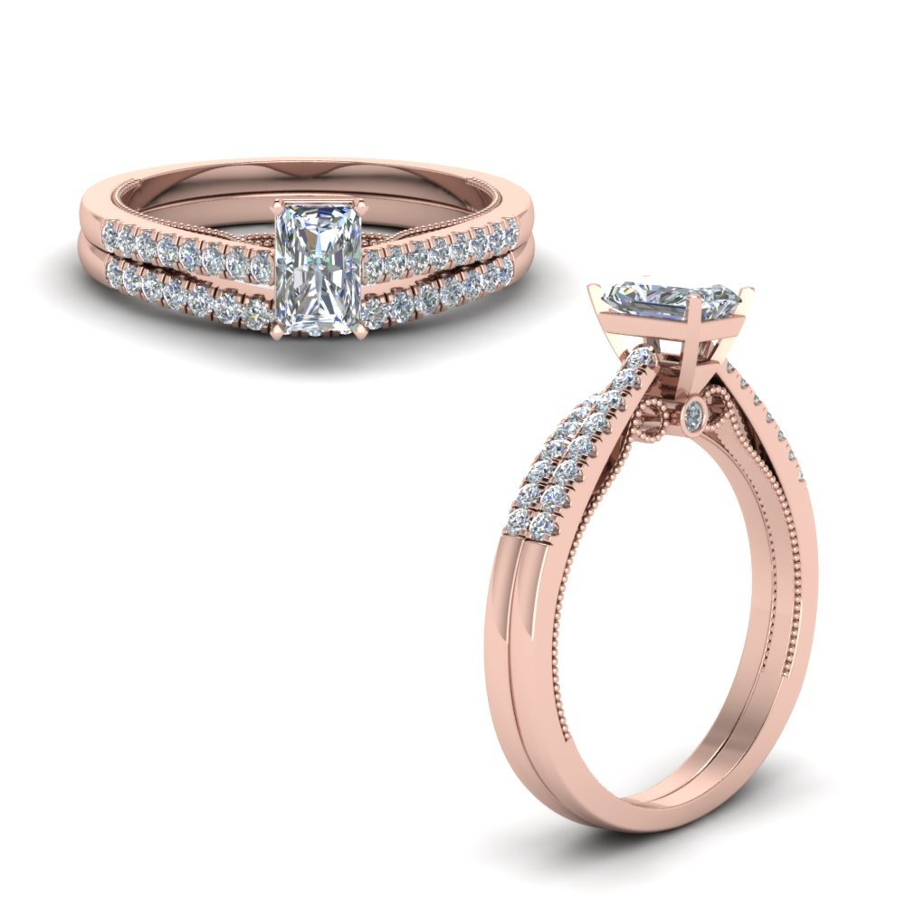 Radiant High Set Ring And Band