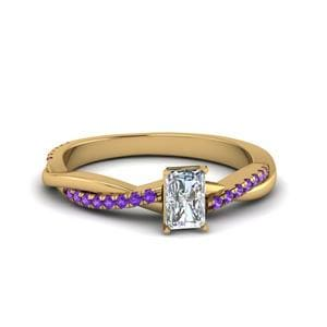 Twisted Purple Topaz Ring