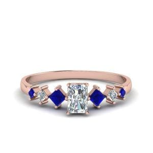 Radiant Rose Gold Sapphire Ring