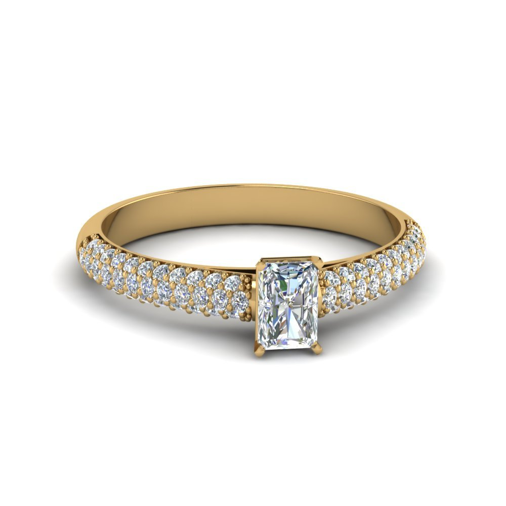 0.75 Ctw. Radiant Cut Diamond Engagement Rings