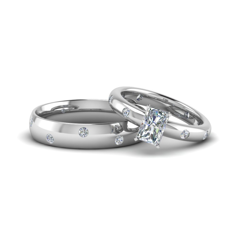 Radiant Cut Matching Wedding Ring