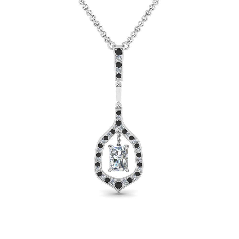 Black Diamond Drop Pendant