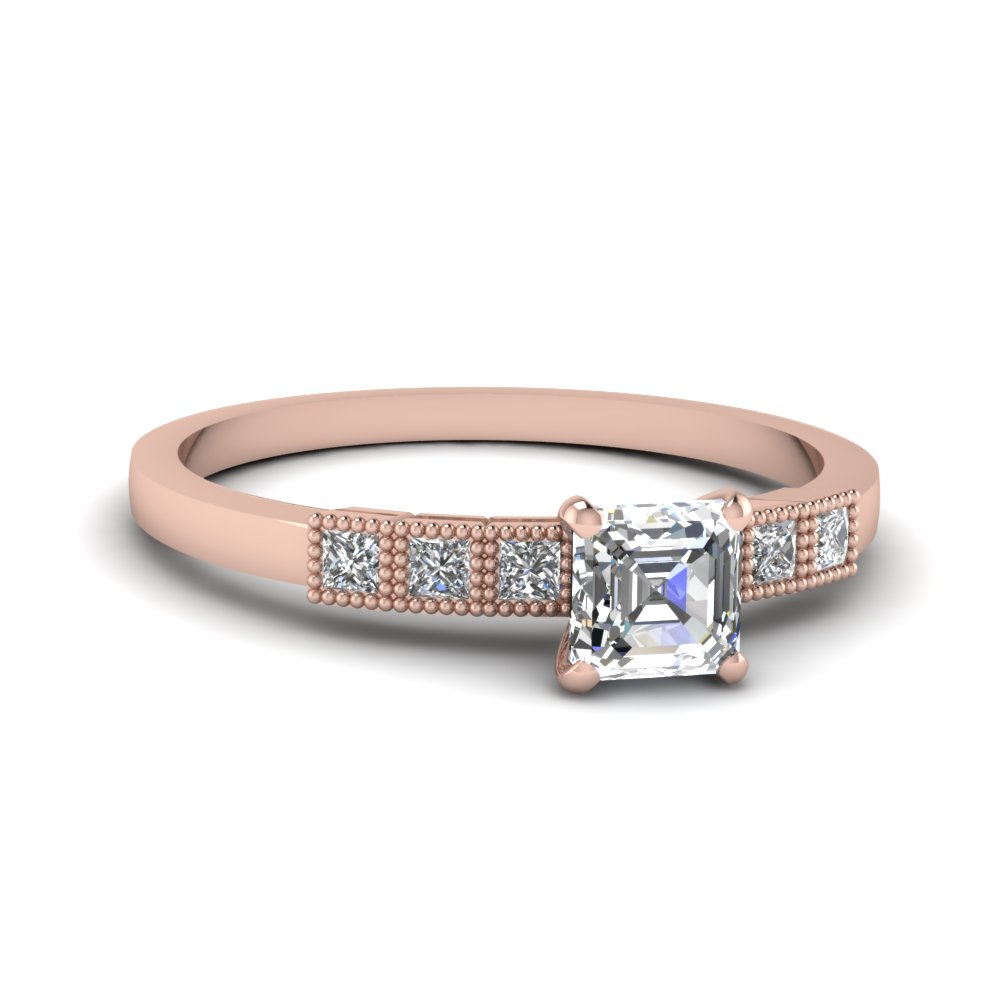 Milgrain Petite Diamond Ring