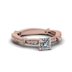 Pave Asscher Cut Ring