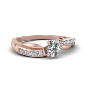 Petal Channel Set Diamond Ring