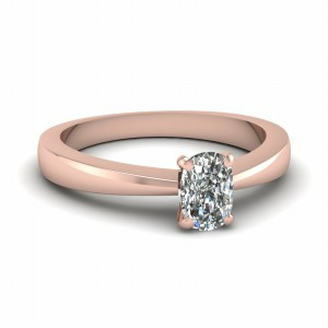 Tapered Solitaire Ring For Her