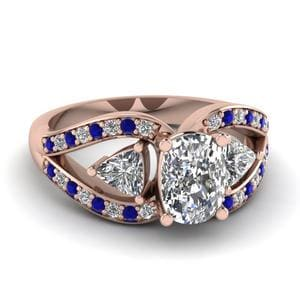 Trillion Ring With Sapphire