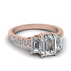 3 Stone Diamond Trellis Ring