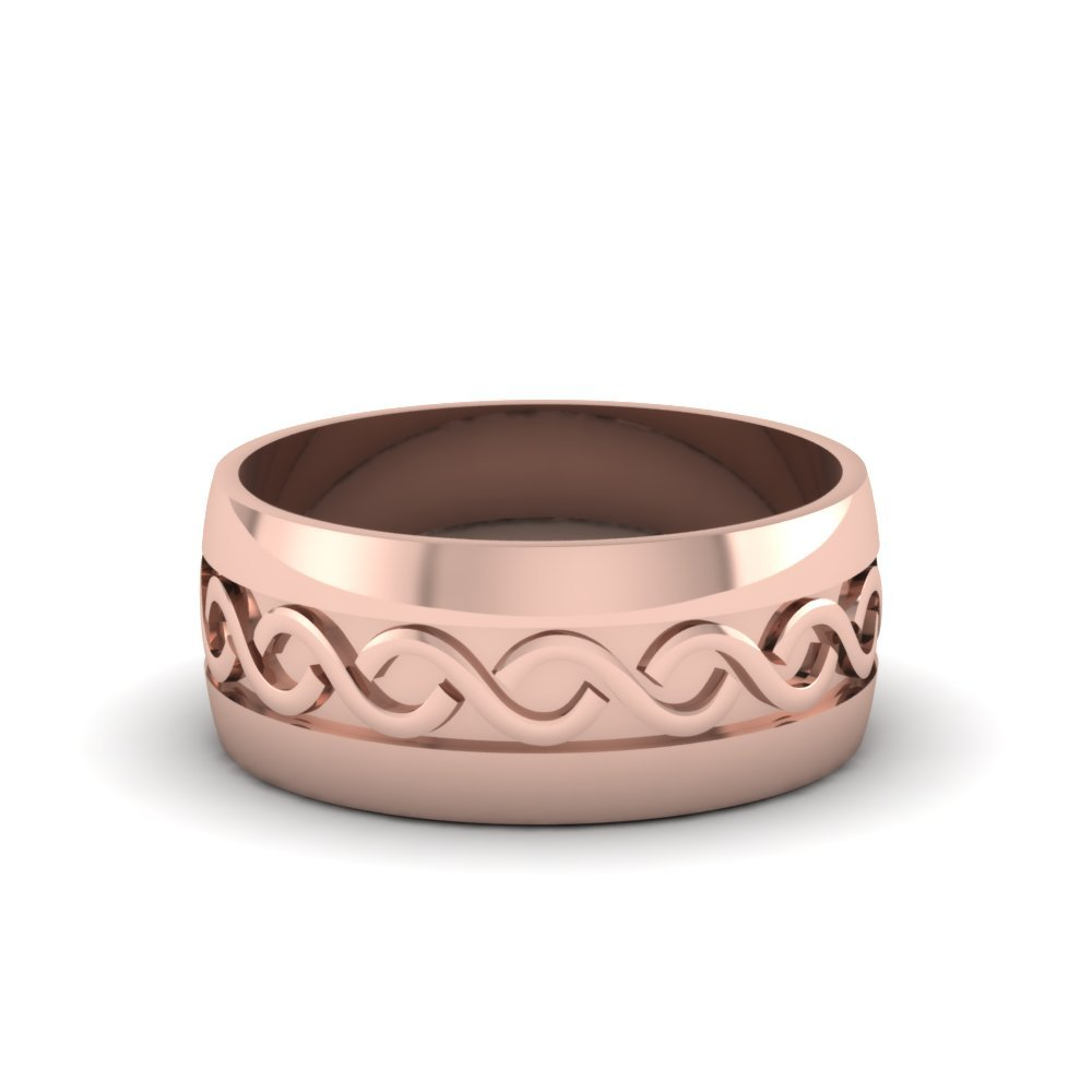 Rose Gold Mens Band