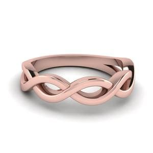 Plain Infinity Wedding Band In 14K Rose Gold