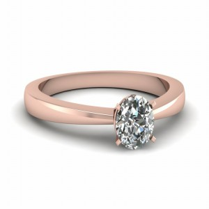 Oval Diamond Solitaire Wedding Ring