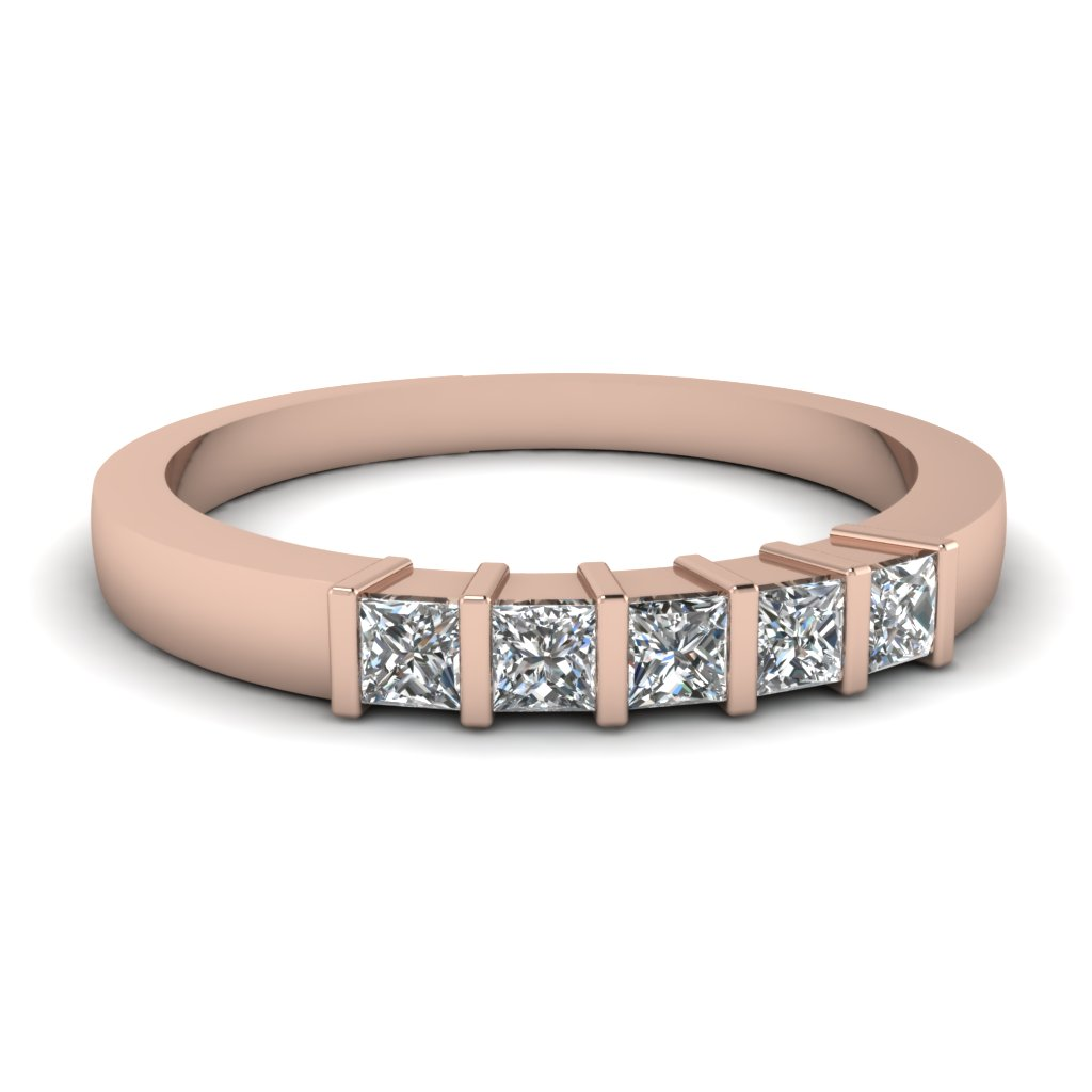 Bar Set Princess Cut Diamond Band