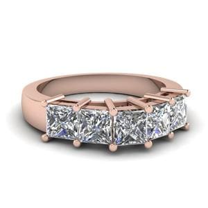 Princess Cut Diamond Womens Band