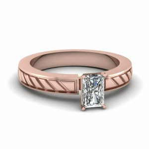 Solitaire Rose Gold Wedding Ring